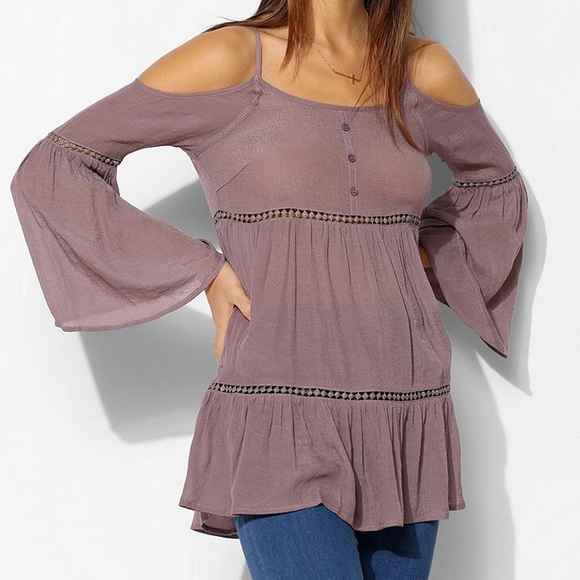 🐣STARING AT THE STARS COLD SHOULDER TUNIC